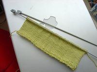 first knitting