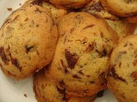 Chocolate and cranberry biscuits